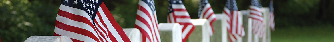 American Flags at Graves